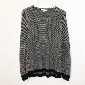 Madewell Riverside Crew Knit Sweater Dot Weave M